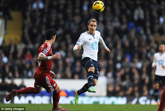 Room for improvement: Danish playmaker Eriksen insists Spurs must raise their game in front of goal
