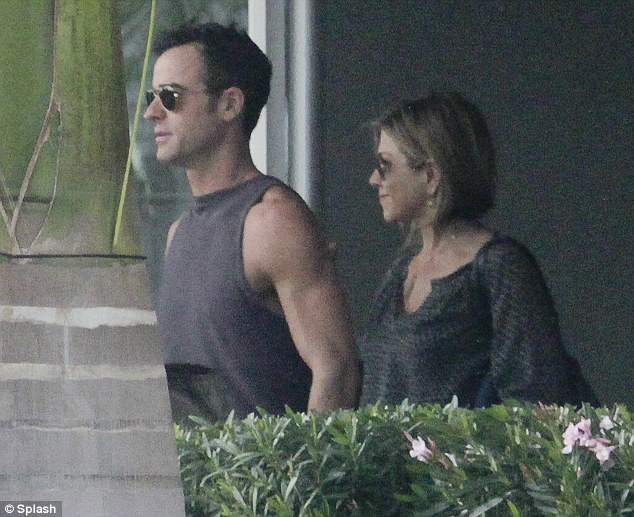 Happy couple: On Friday, Jennifer Aniston and Justin Theroux arrived in Mexico for a romantic New Year's Eve getaway