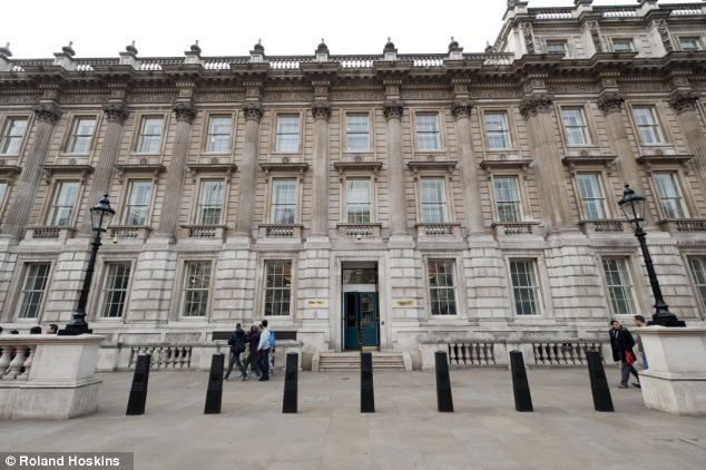 In the new year, Whitehall (pictured) will launch the biggest round of cuts on the Armed Forces since WWII