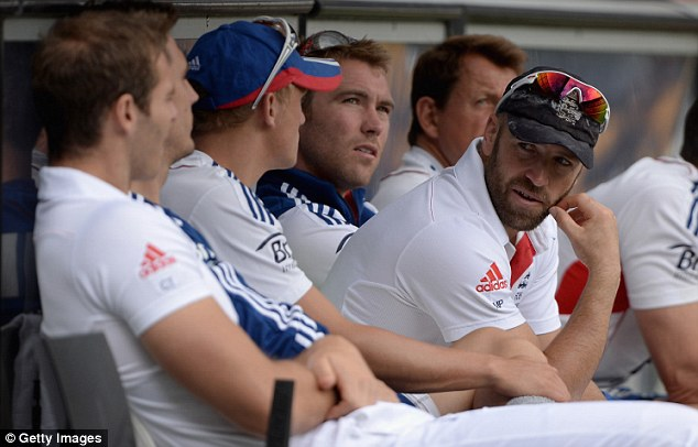 Not giving up: Prior (right) has vowed to fight his way back into the England team