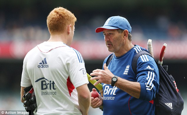 Trouble ahead? The future of batting coach Graham Gooch (right) is under question after dismal collapses