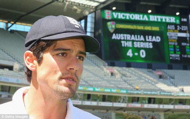 Is this it? Alastair cook admitted that he could be sacked as England captain after the Ashes debacle