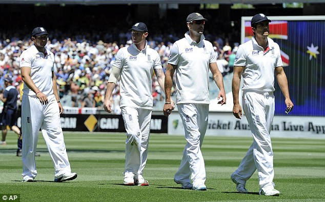 Sorry bunch: England completely capitulated at the MCG and lost by eight wickets on the fourth day