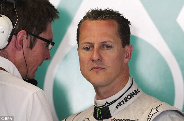 Injured: Michael Schumacher was taken to hospital after suffering a head injury in a skiing accident