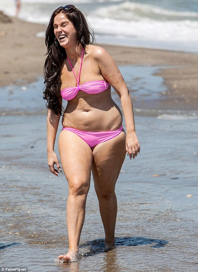 Before: The reality TV star looked a lot different in the summer to how she looks now