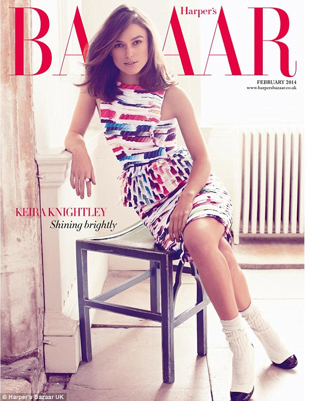 Opening up: Keira Knightley talks social media, marriage and working in a male dominated industry in the February edition of Harper's Bazaar UK