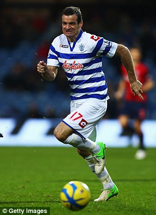 See red: Ryan Nelson for QPR before he retired and took up his post as Toronto manager