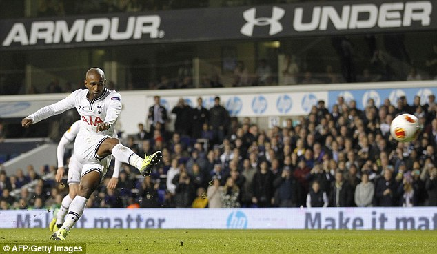 On the move: Defoe will complete his transfer from to Toronto in the MLS next month