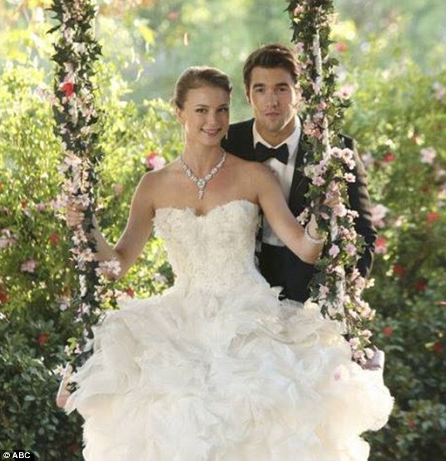 Bloody bride: However, Amanda Clarke/Emily Thorne could easily be faking the memory lapse just as she faked the wedding and pregnancy from the winter finale