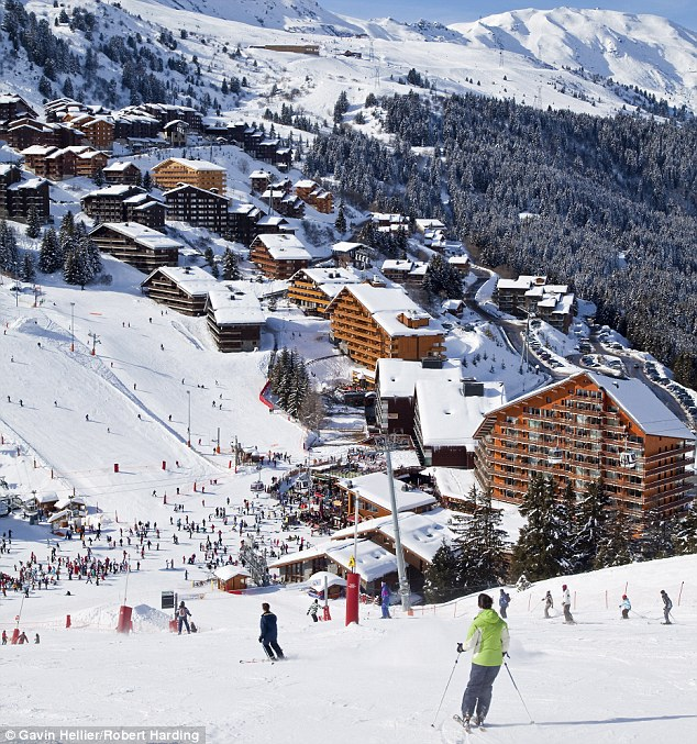 The ski resort of Meribel in France where Michael Schumacher was injured in a skiing accident
