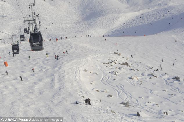 Scene: This is the off-piste spot where Formula One legend Michael Schumacher is believed to have fallen