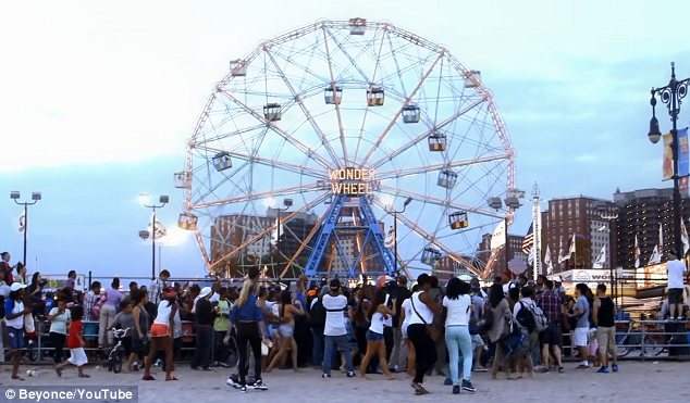 Coney Island: The wonder wheel provided the backdrop for Beyonce's XO video