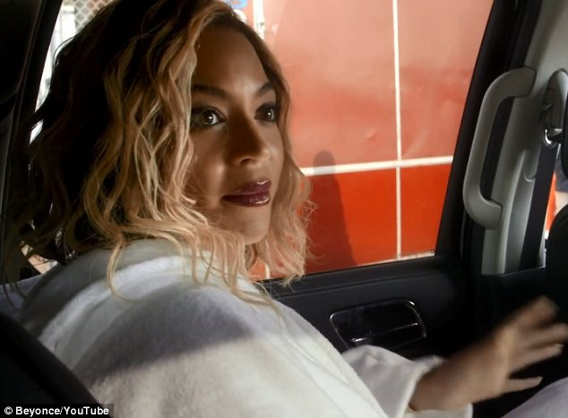 Going with the flow: While she freely admits to being a perfectionist, Beyonce enjoyed the freedom of not planning every little thing about her videos for her latest self-titled album