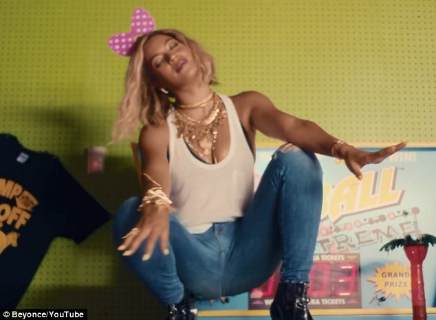 Laid back: There was nothing artificial about Beyonce's latest videos and she couldn't be happier about that