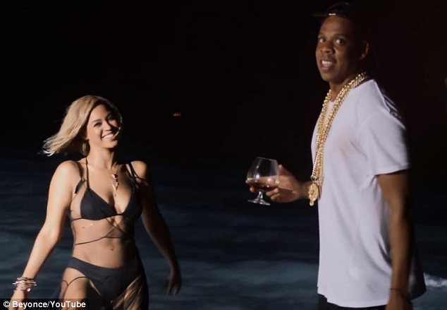 Her favourite: Beyonce jumped at the chance to work with her husband Jay-Z and loved both recording the song and video for Drunk in Love with him