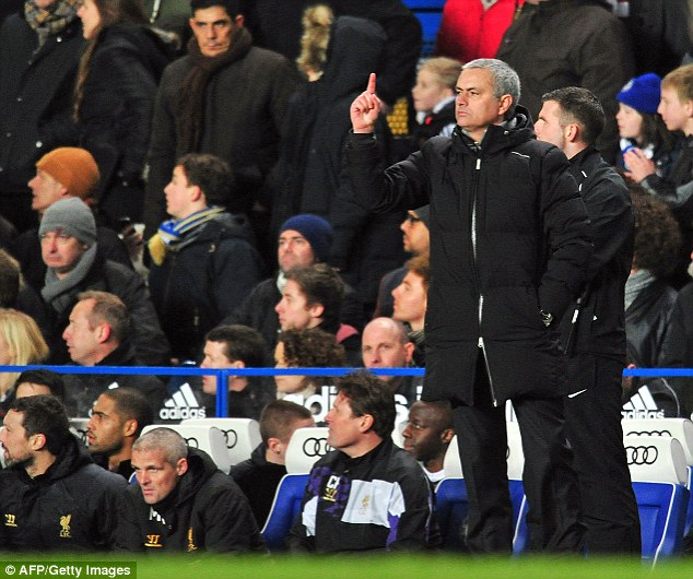 Making a point: Jose Mourinho bemoaned the prominence of ex-Liverpool players on TV