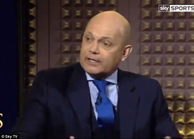 Bridge boy: Ray Wilkins - a former Chelsea captain and assistant manager - regularly analyses Blues games