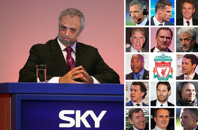 Future? Here's our mocked-up image of Mourinho as a 75-year-old pundit, with the former Liverpool players
