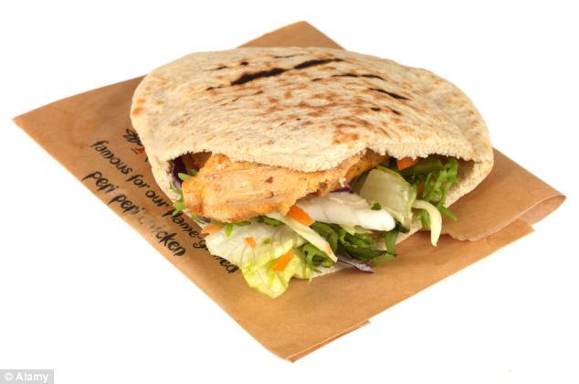 Ms Barot said she had never eaten meat before she was served a chicken pitta at the restaurant (file picture of a Nando's chicken fillet pitta)