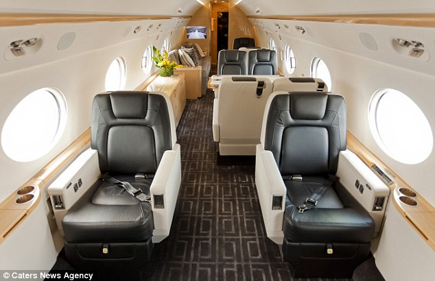 For those that want to relax inbetween parties, there are luxury cabins on the plane