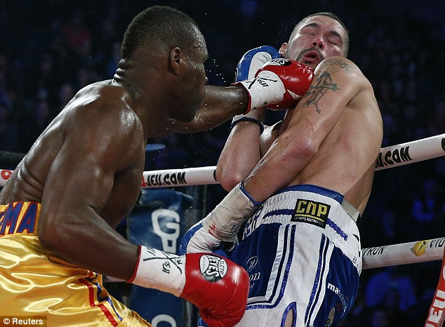 Brit basher: Adonis Stevenson knocked out Tony Bellew to retain his light-heavyweight world title