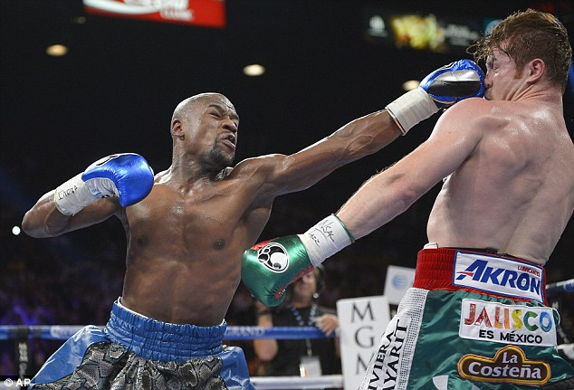 Untouchable: Floyd Mayweather cemented his position as the best in the world against Saul Alvarez