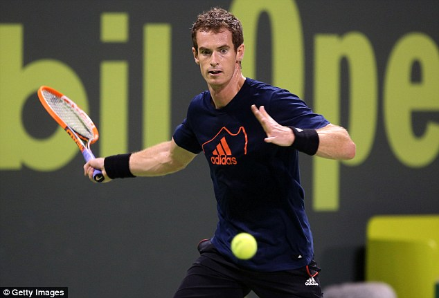 Back in action: Andy Murray will play his first singles match of the 2014 season at the Qatar Open