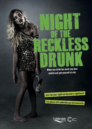 Offensive? The poster warning against binge drinking