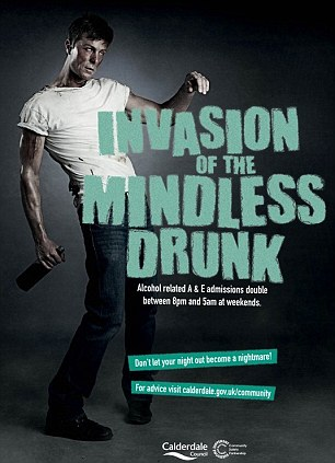 The controversial festive campaign also includes adverts warning against 'mindless drunks' and 'drug drivers'