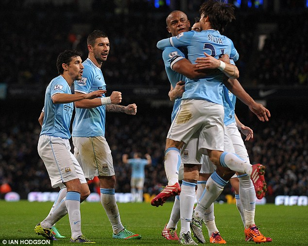 Too hot to handle: Man City have been in scintillating home form at the Etihad Stadium this season