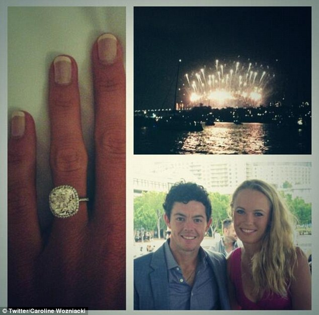 Happy news: The pair confirmed they were engaged on New Year's Day by posting a series of pictures on Twitter featuring the diamond sparkler