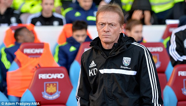 Picking up the pieces: West Brom caretaker boss Downing has been left to pick up the pieces