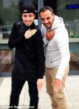 Shock: A picture of Nasri performing the same move emerged as did one of basketball star Parker