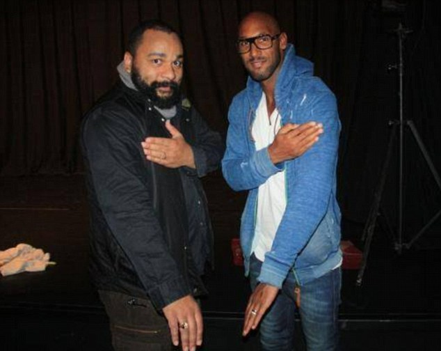 Controversy: This gesture, performed by Dieubonne and Anelka, has landed the striker in hot water