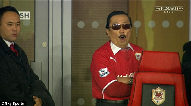 Opinionated: Vincent Tan appeared to boo his own team after Cardiff drew against Sunderland last weekend