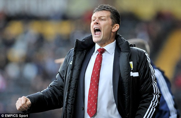 Frustrated: Bristol City manager Steve Cotterill said he was 'disappointed' his side's game was cancelled