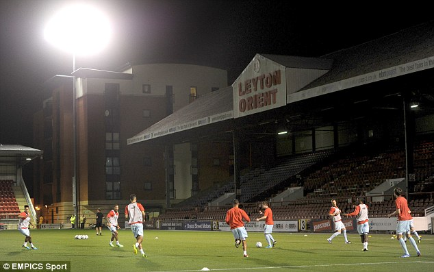 Crucial: Floodlights are an essential feature to nearly all stadiums throughout the country