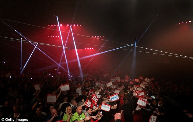 Biggest stage: Wright and Van Gerwen will play in front of 2,500 fans on New Year's Day at Ally Pally