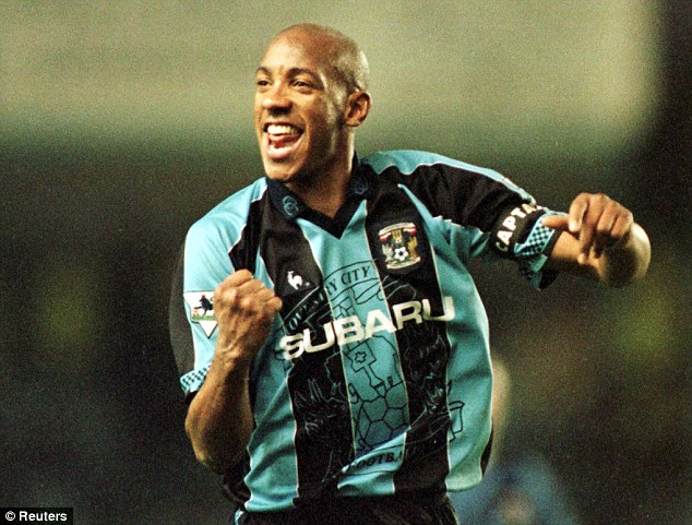 Move: Striker Dion Dublin left Manchester United to join Coventry City in 1994
