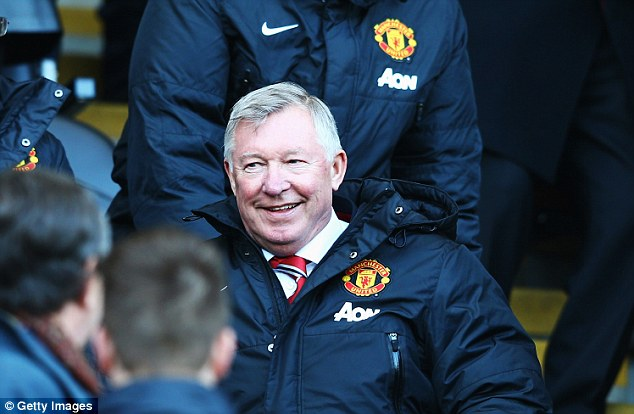 Remaining in the background: Ferguson still watches United but likes to keep out of the way