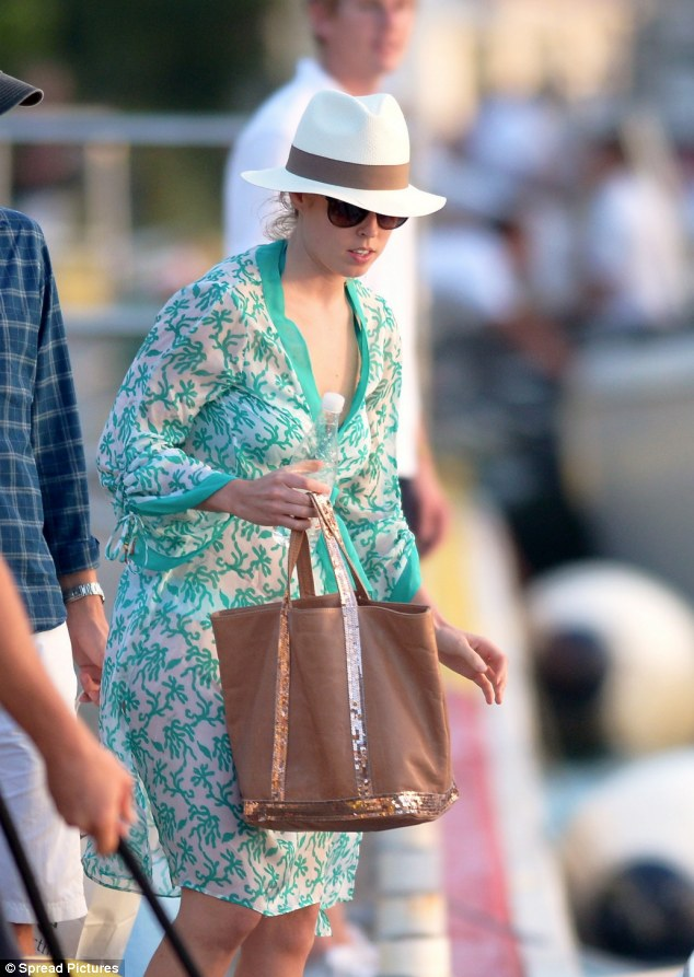 Princess Beatrice of York and Dave Clark saw in 2014 in Saint Barts, French West Indies.