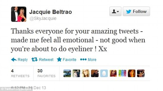 Emotion: Around 45 minutes after the original post, Mrs Beltrao thanked the well-wishers who sent her messages of support