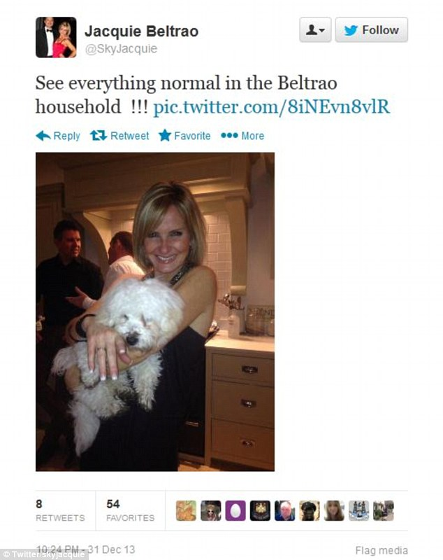 Gathering: She also posted a picture of a New Year's Eve party at her London home
