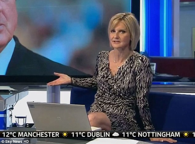 Veteran: Mrs Beltrao, who presents sports news on Sky's early-morning Sunrise show, has been with the channel for 21 years