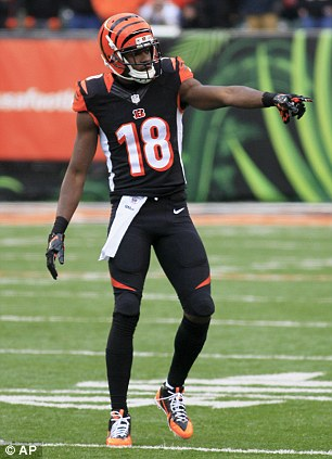 Fearsome weapon: A.J. Green amassed 1,426 yards in the regular season with 11 touchdowns