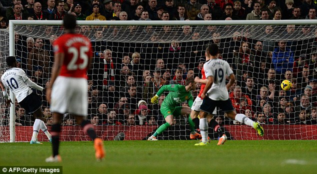 January blues: United have already suffered defeats against Tottenham, Swansea and Sunderland this month