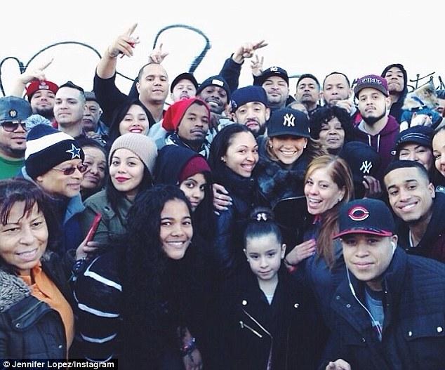 Homegirl: Jennifer meeting fans in The Bronx last weekend