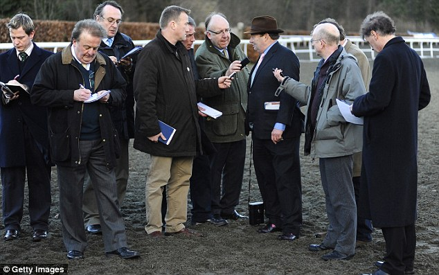 Interest: Such is the star status of Sprinter Sacre that reporters soon circled Henderson