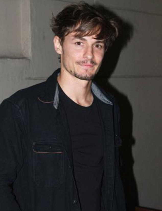 Good Jobs: Giles Matthey showed off his fetching new facial hair when he turned up at the event
