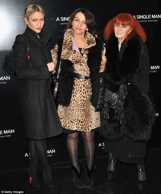 Her family: Lola (left) is seen here with her mother Nathalie (center) who serves as the Sonia Rykiel brand's Vice President), and grandmother Sonia Rykiel (right)